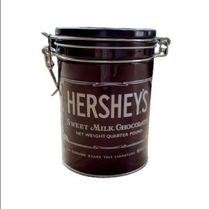 HERSHEY'S CHOCOLAT TIN CANISTER WITH LID